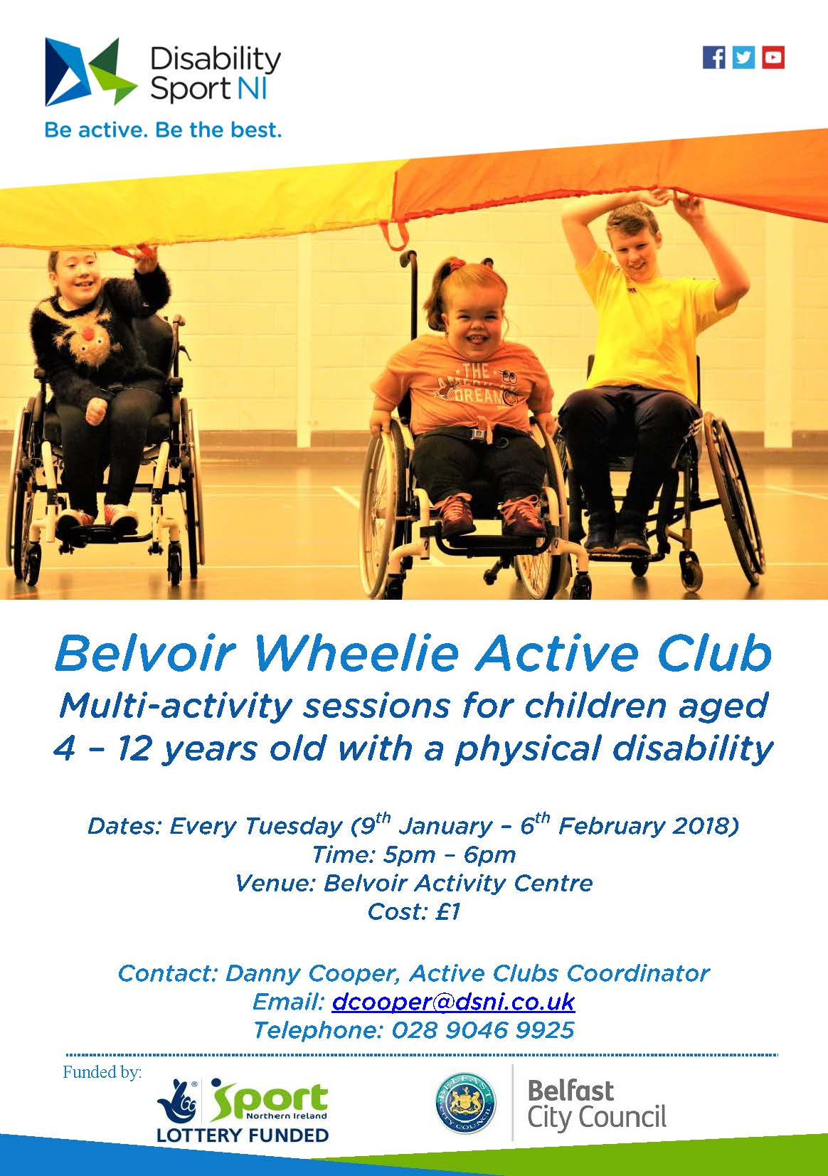 Belvoir Wheelie Active Club flyer. Available in other formats upon request