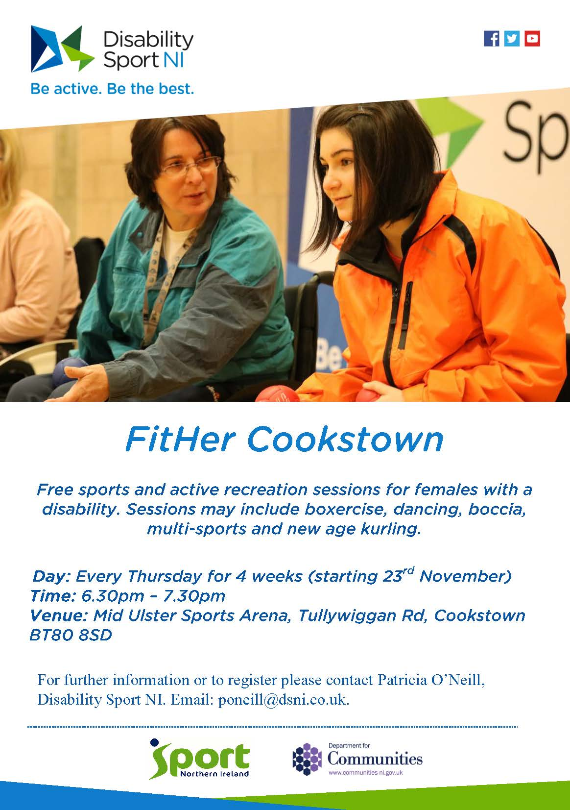 Poster for FitHer Cookstown outlining details as per website