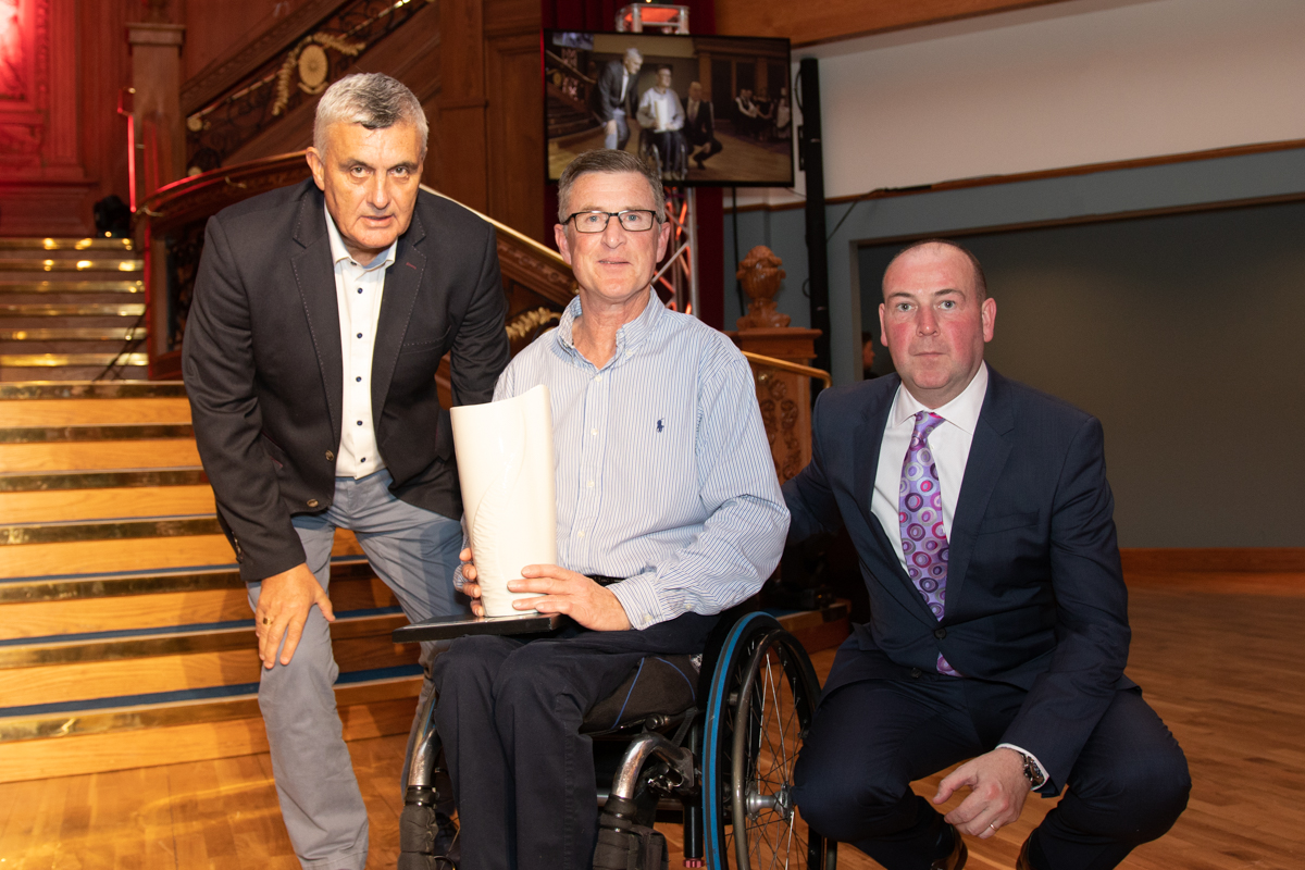 An image of Ivor Jess MBE with Alfie Watterson and Michael Hilland