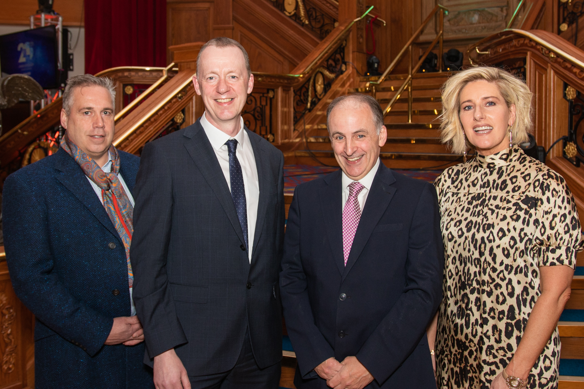 An image of Brian and Sharon McFarland with Kevin O'Neill and Michael McAteer