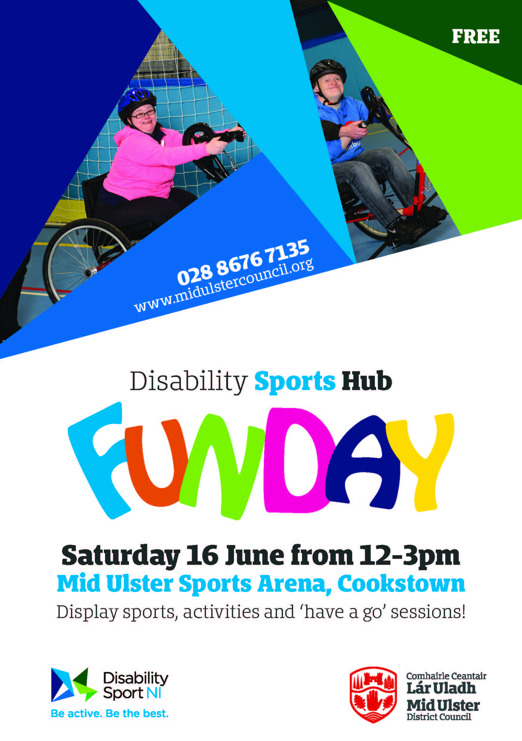 Disability Sports Hub FUNDAY flyer. Alternative formats available upon request.