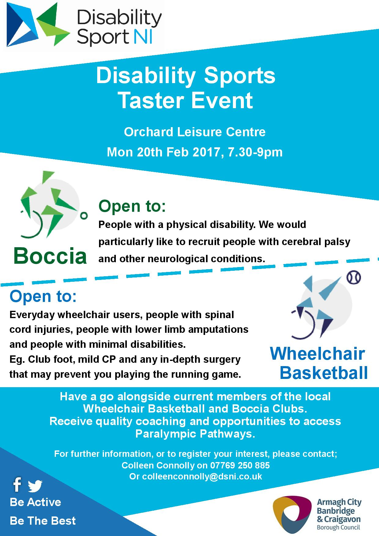 Disability Sport Taster Sessions