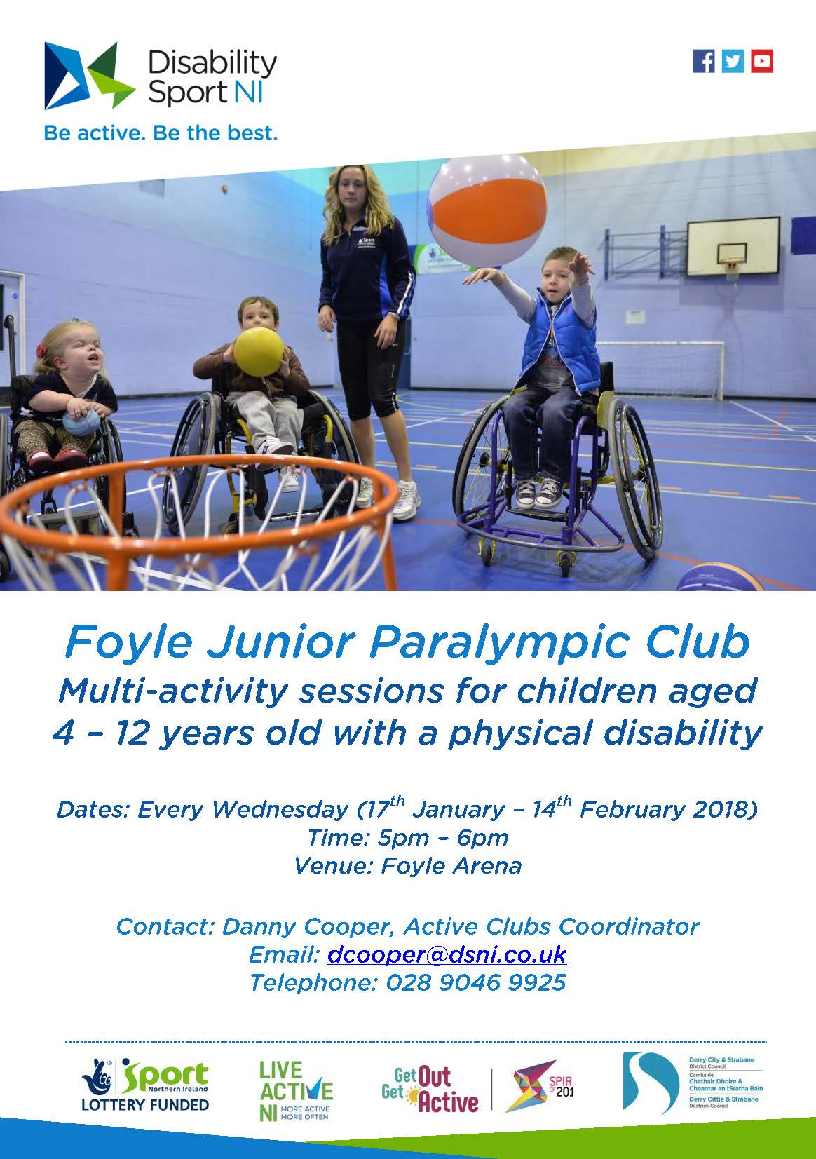 Foyle Junior Paralympic Club, alternative formats available upon request