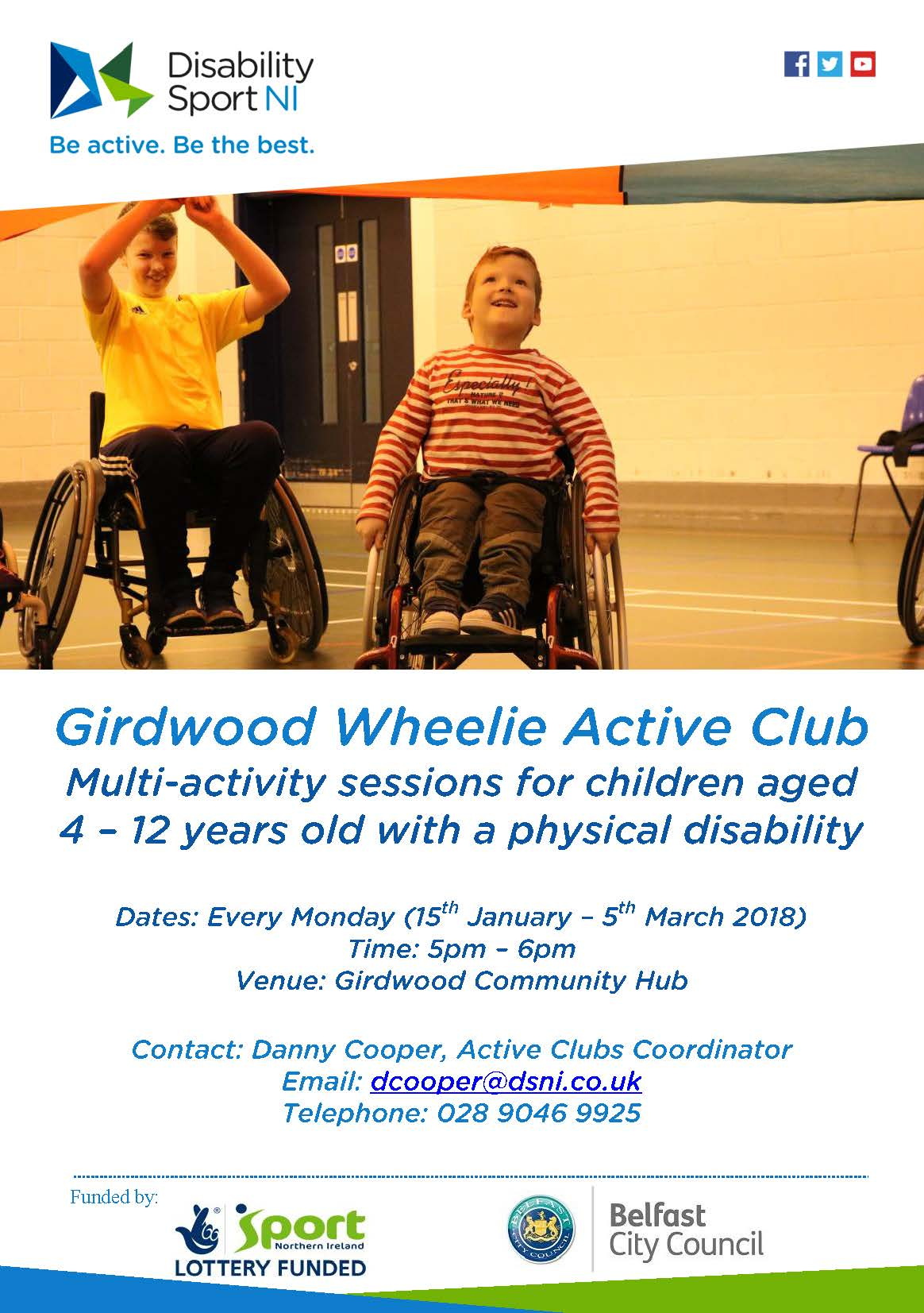 Girdwood Wheelie Active Club Flyer. Alternative formats available upon request