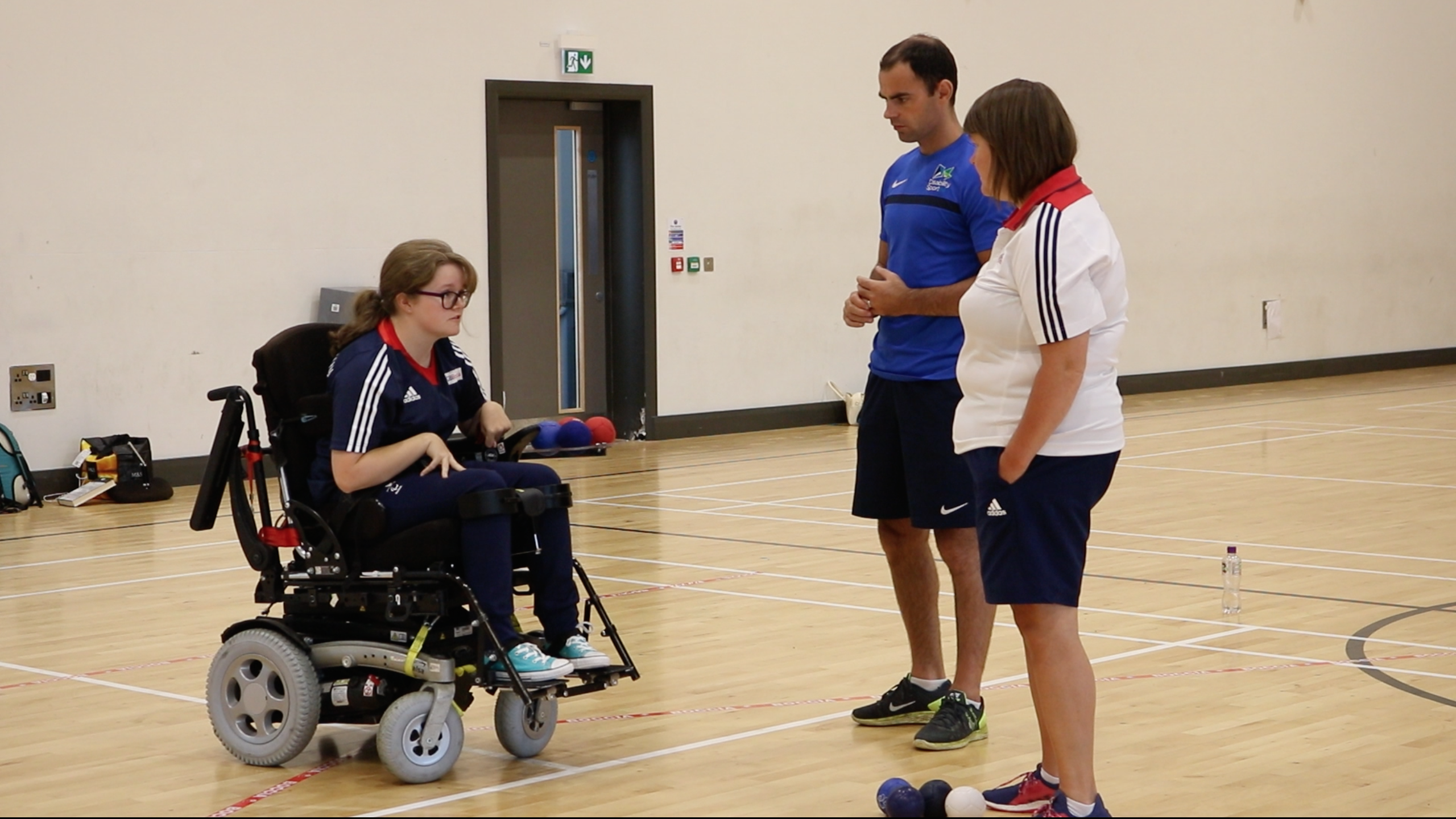 Rio Paralympian Claire Taggart with her home coach Odhran Doherty and GB coach Claire.