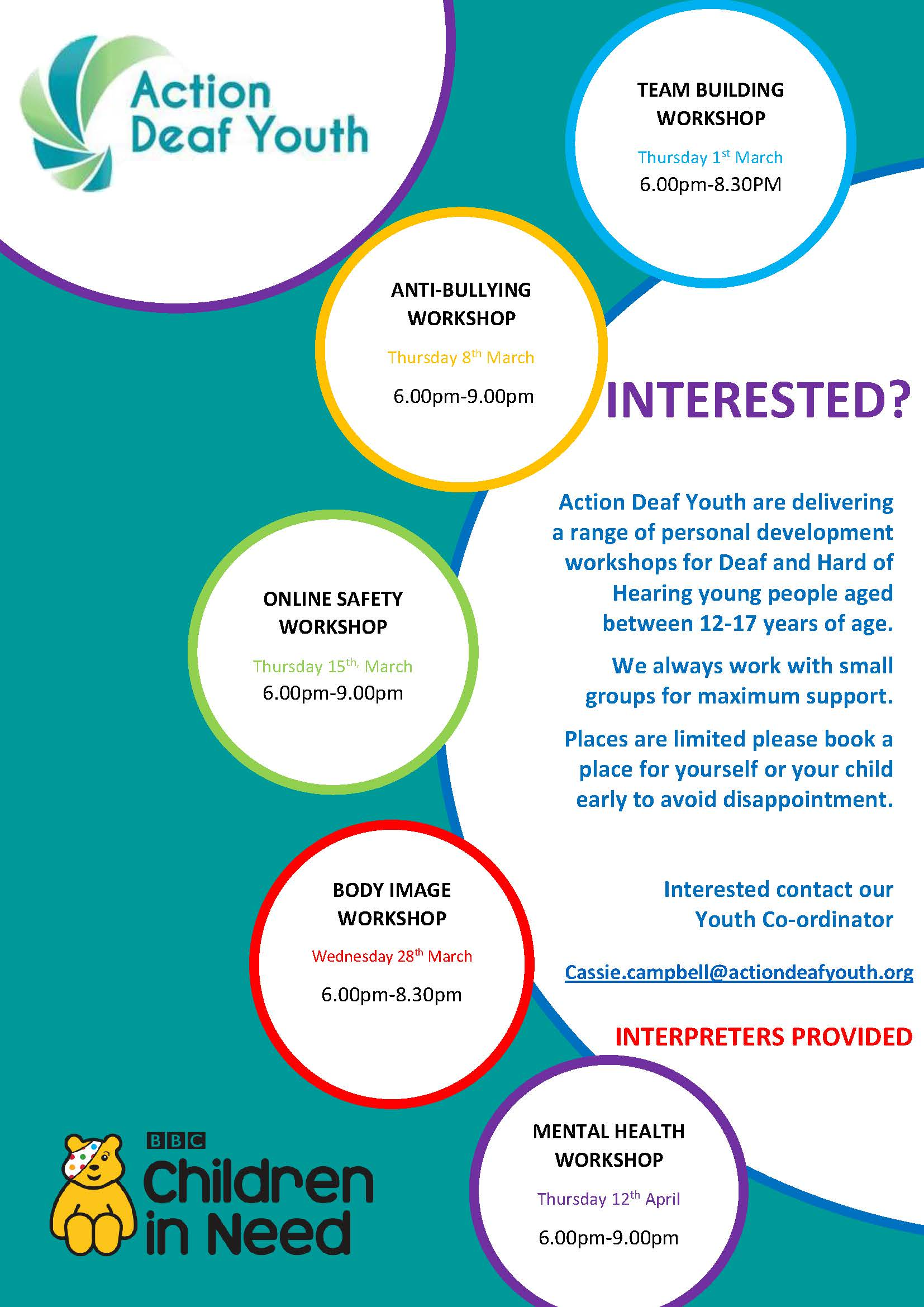 Flyer 1 advertising courses. Alternative formats available upon request
