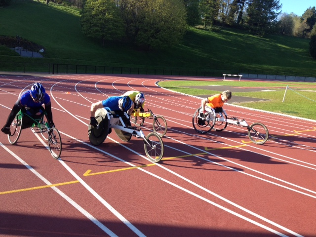 Wheelchair Racing at Mary Peters Track
