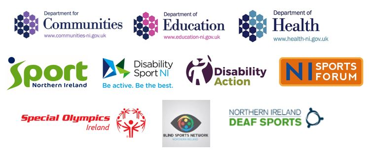 A range of Logos to show all partners for the Active Living No Limits Action Plan
