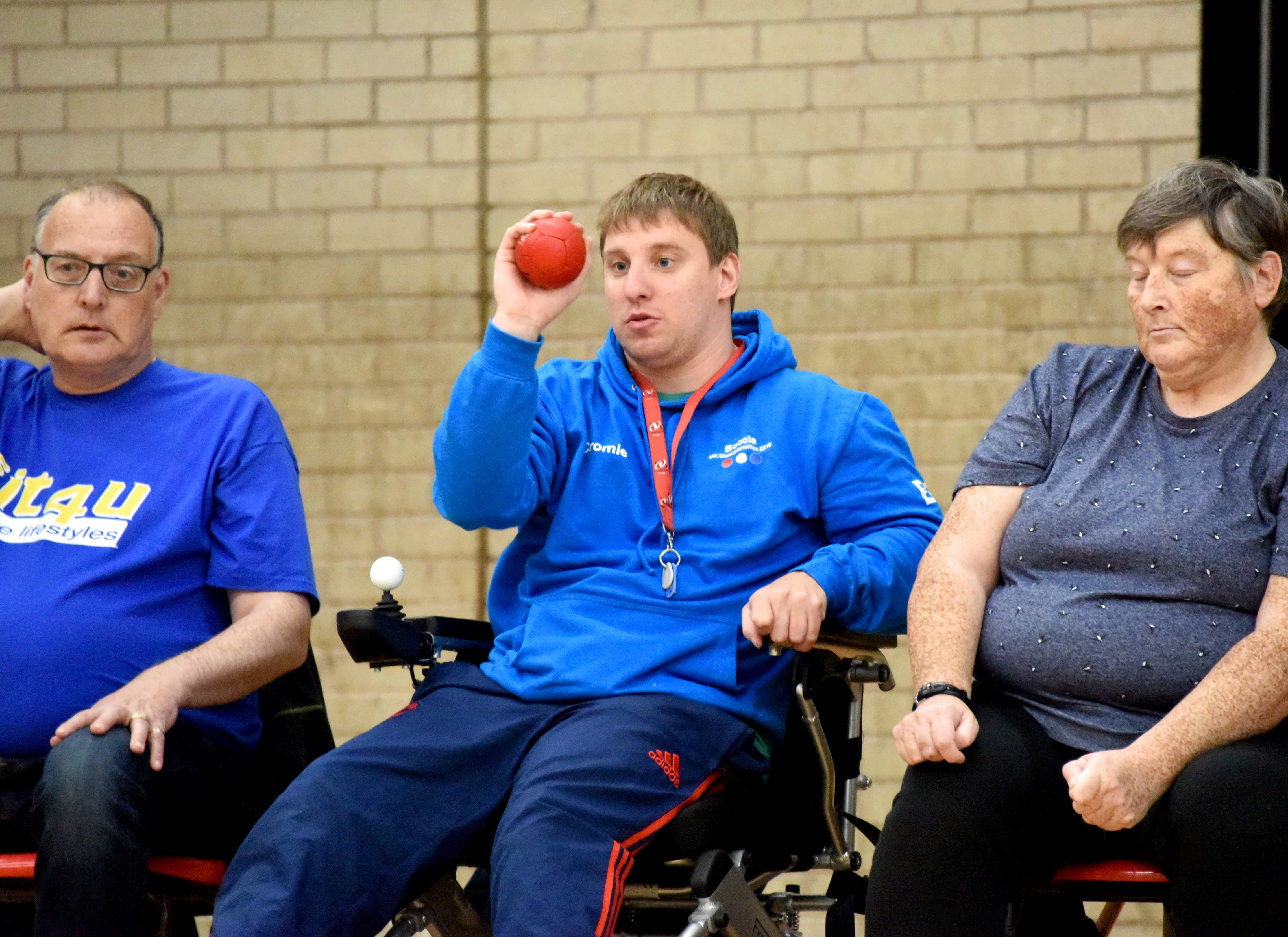 An image of Scott Cromie playing Boccia