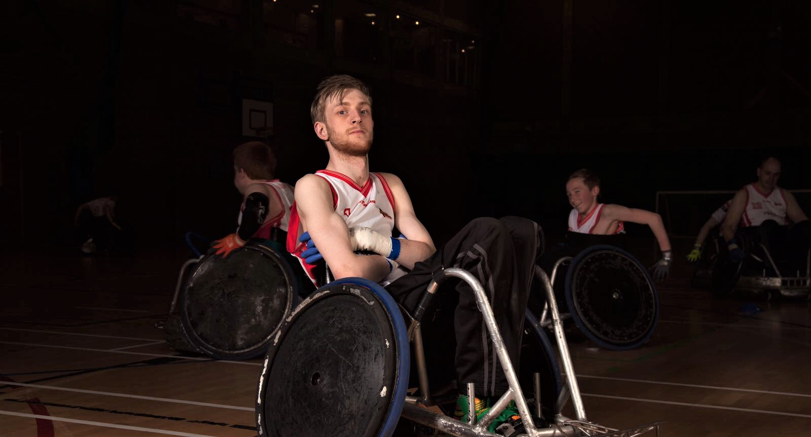 An image of Will Doggart sitting in his Sports Chair with his arms folded